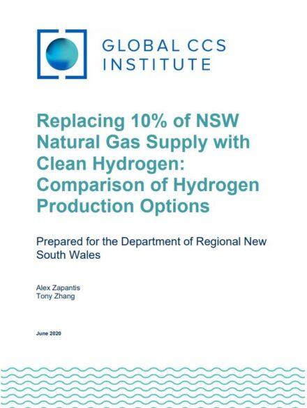 用清洁氢气替代10%新南威尔士州天然气: 制氢方法的比较