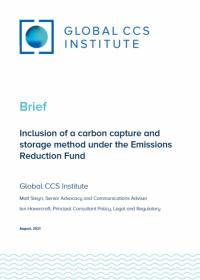 将CCS方法纳入减排基金