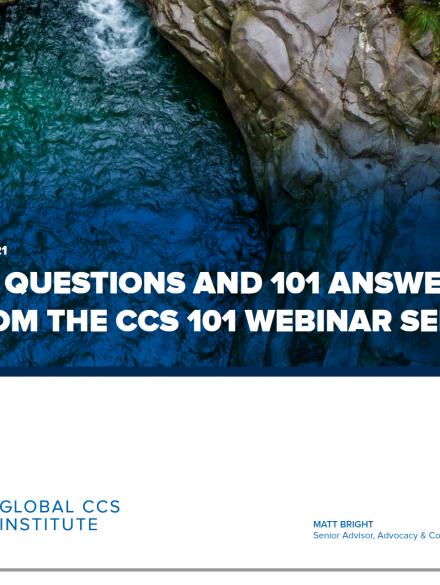 来自碳捕集与封存系列网络研讨会的101个问题和101个回答
